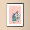 유니크 디자인 포스터 월하정인 한국민화 A3(중형)