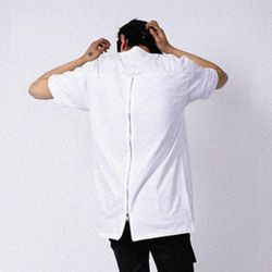 XXIX - BACK ZIPPER SHORT SLEEVE  - 화이트