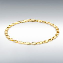 [런던골드 9ct Gold] Oval Link Bracelet 18cm