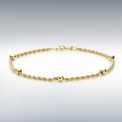 [런던골드 9ct Gold] Hollow Rope Bracelet