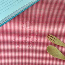 베이비체크 방수식탁보(레드-2인110cm)