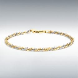 [런던골드 9ct Gold] Twist Chain Bracelet 18cm