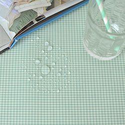 베이비체크 방수식탁보(민트-6인210cm)