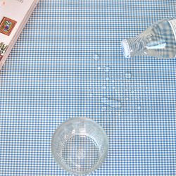 베이비체크 방수식탁보(블루-2인90cm)