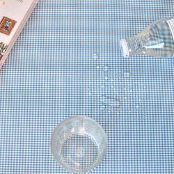 베이비체크 방수식탁보(블루-2인110cm)
