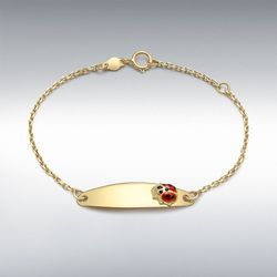 [런던골드 9ct Gold] ChildrensLadybird Bracelet