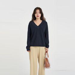 binch v-neck knit (4colors)