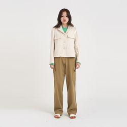 wood pocket crop jacket (2colors)