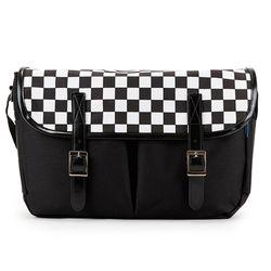 [핍스] PEEPS hipster messenger bag(checkblack)