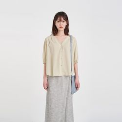 may v-neck blouse (2colors)