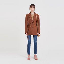strap set linen jacket (2colors)