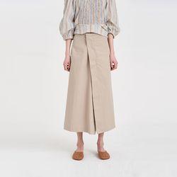 oblique cotton skirt (2colors)