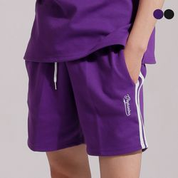 SIDE TWO STRIPES TRACK SHORTS(2color)(unisex)