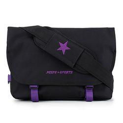 [핍스] PEEPS essential messenger bag(vivid black)