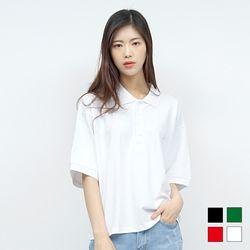2161 카라 크롭 티셔츠 (4colors)