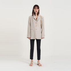 stripe linen boxy jacket (2colors)