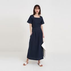 moco square linen one-piece (2colors)