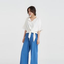 take linen blouse (2colors)