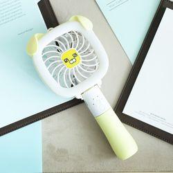 LED 사각 핸디형 선풍기(옐로) 휴대용 접이식 저소음