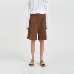 cotton pintuck half pants (3colors)