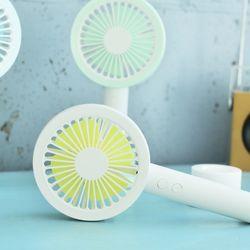 LED 원형 핸디형 선풍기(옐로) 휴대용 저소음 탁상형