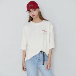 [로코식스] 키키 보드 박스 티셔츠