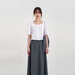 lace crop blouse (2colors)