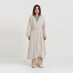 lope linen robe (2colors)