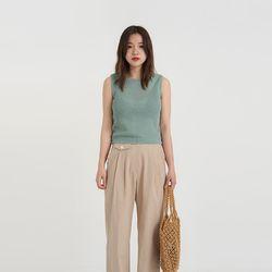 dia knit sleeveless (4colors)
