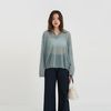 see-through collar loose knit (4colors)