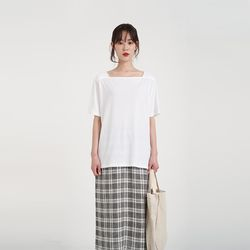 simple square neck tee (4colors)
