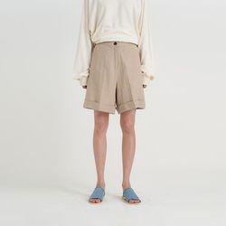 linen turn up pants (3colors)