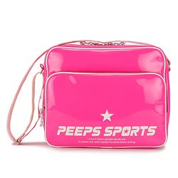 [핍스] PEEPS retro 80 enamel cross bag(pink)