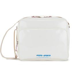 [핍스] PEEPS retro 90 enamel cross bag(ivory)