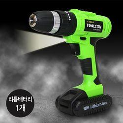 툴콘 충전 햄머 드릴(리튬배터리 1개) TC-1800LB1
