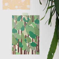 Light Pattern Post Card