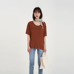 soft round tension tee (6colors)