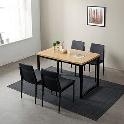 모던블랙 슬로 4인 식탁 세트 (508)
