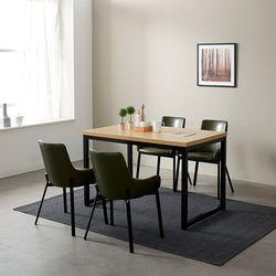 모던블랙 슬로 4인 식탁 세트 (506)