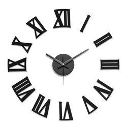 붙이는벽시계 인테리어시계 DIY 로만블랙