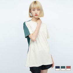 2165 모리 배색 티셔츠 (3colors)