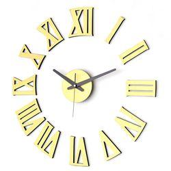 붙이면 인테리어완성 DIY벽시계 로만골드