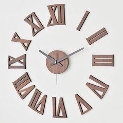 못없이 붙이는 인테리어 DIY 무소음벽시계 로만우드