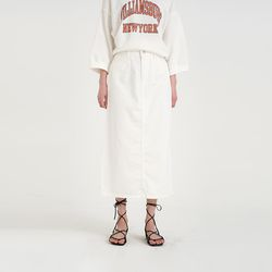 casual cotton long skirt (2colors)