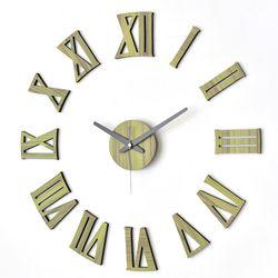 인테리어 붙이는벽시계 DIY 무소음시계 로만그린우드