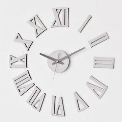 붙이는 디자인벽시계 DIY무소음 로만시크베이지
