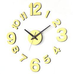 인테리어 무소음벽시계 DIY시계 모던골드