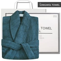호텔 40수 샤워가운 딥그린 선물세트
