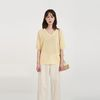 thin simple v-neck half knit (4colors)