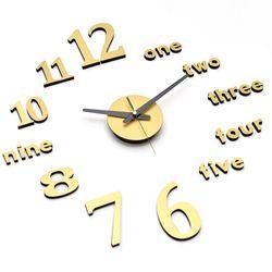 골드빛 붙이는벽시계 DIY무소음시계 클래식골드